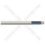 Round 2 Core 1mm PVC Flex 10A 3182Y - Colour White