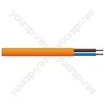 Round 2 Core 1mm PVC Flex 10A 3182Y Hank - Lead Length (m) 5