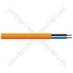 Round 2 Core 1mm PVC Flex 10A 3182Y Hank - Lead Length (m) 10