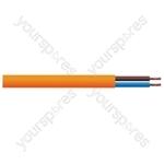 Round 2 Core 1mm PVC Flex 10A 3182Y Hank - Lead Length (m) 25