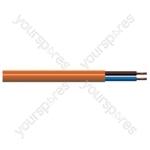 Round 2 Core 1mm PVC Flex 10A 3182Y - Colour Orange