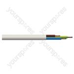 Round 3 Core 0.5mm PVC Flex 3A 2183Y - Colour White