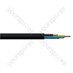 Round 3 Core 0.75mm PVC Flex 6A 2183Y - Colour Black
