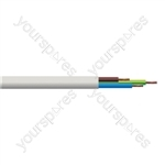 Round 3 Core 0.75mm PVC Flex 6A 2183Y - Lead Length (m) 5
