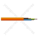 Round 3 Core 0.75mm PVC Flex 6A 3183Y - Colour Orange