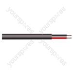 2 Core Hi-flex Professional PA Speaker Cable Reel - CSA (mm2) 0.75