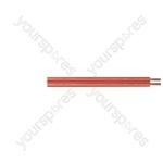 Transparent Standard Figure 8 Loudspeaker Cable. 100 m Reel - Number of Strands 42