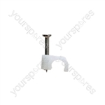 Round White Cable Clips - Size 7mm