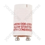 White 4-80 W Fluorescent Starter