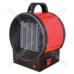 Prem-i-air 2kW Utility PTC Electrical Fan Heater With 2 Heat Settings