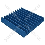 60 X 60 X 5cm Foam Acoustic Tiles (Pack of 8) - Colour Electric Blue