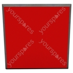 60 X 60 X 5CM FABRIC FACED TILE (Pack of 6) - Colour Red