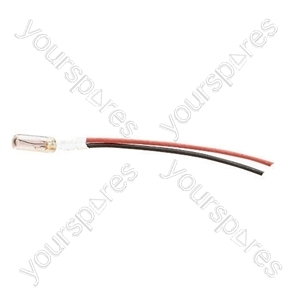 Clear 65 mA Sub miniature Wire Ended Bulb - Voltage 12V