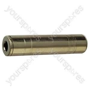 Nickel 6.35mm Mono Line Socket With Solder Terminals