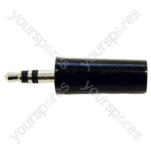 3.5 mm Stereo Plastic Jack Plug with Solder Terminals