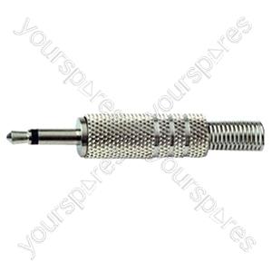 3.5 mm Mono Metal Jack Plug with Solder Terminals