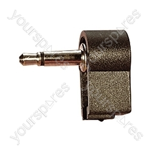 3.5 mm Right Angled Mono Plastic Jack Plug with Solder Terminals