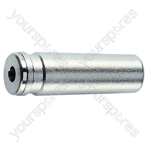 2.5 mm Stereo Line Socket With Metal Body and Solder Terminals