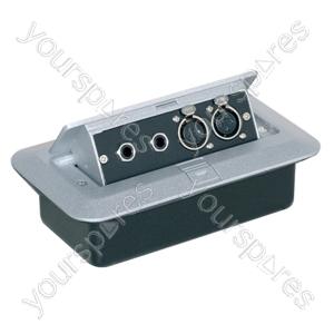 Pop-up AV Combination Plate with Jack Sockets & 3 Pin XLR