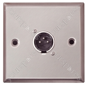 AV Wall Plate With 1 x 3 Pin XLR Connector