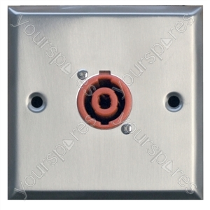 Metal AV Wall Plate with 1 x 2 Pole Speaker Connector
