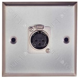Metal AV Wall Plate with XLR Socket