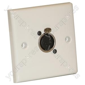 AV Wall Plate with 1 x 3 Pin Female XLR Socket (NC3FDL1)