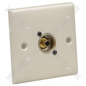 AV Wall Plate With 1 x Phono Socket (NF2D-0)