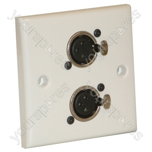 AV Wall Plate with 2  x 3 Pin Female XLR Socket (NC3FDL1)