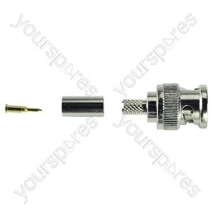 BNC Crimp Type Line Plug 75 Ohm