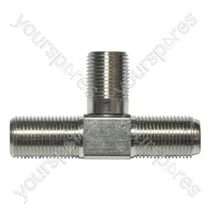 F Type Splitter 3 x Line Sockets