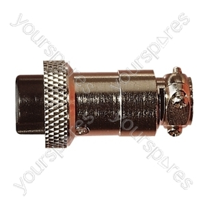 Multi Contact Line Socket with Cable Grip and Solder Terminals - Number of Contacts 3
