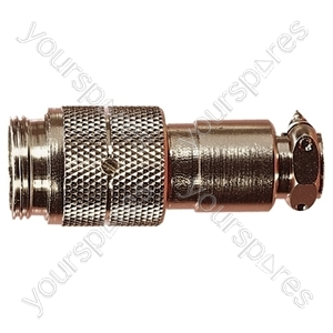 Nickel High Quality Multi Contact Line Plug with Cable Grip and Solder Terminals - Number of Contacts 3