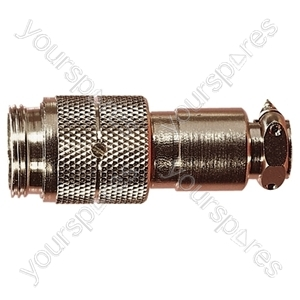 Nickel High Quality Multi Contact Line Plug with Cable Grip and Solder Terminals - Number of Contacts 8