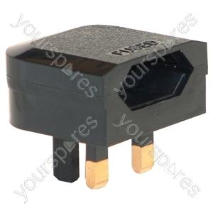 3 A Fused Euro Converter Euro Plug to 3 Pin UK Plug