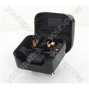 5 A Fused Converter 2 Pin Euro Schuko Plug to 3 Pin UK Plug