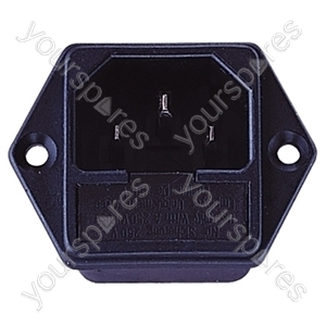 3 Pin IEC Chassis Plug (Inlet) with Fuse Holder 10A