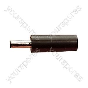 Plastic DC Power Line Plug  - Centre Hole 2.5mm