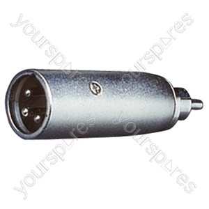 3 Pin XLR Male to RCA Phono Plug Adaptor