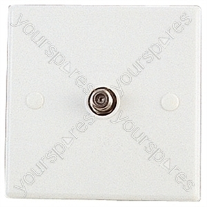 Flush Mounting Single Coaxial Outlet with F Type Chassis Socket and Fixing Screws