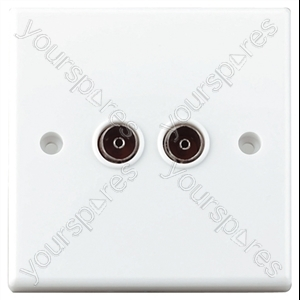 Flush Twin Coaxial Outlet