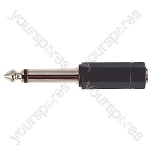 6.35 mm Mono Plug to 3.5 mm Mono Socket Adaptor