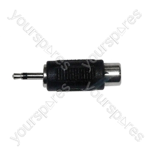 2.5 mm Mono Plug to RCA Phono Socket Adaptor