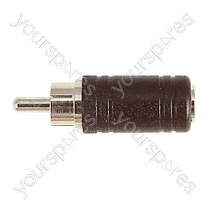 Phono Plug to 3.5 mm Mono Socket Adaptor
