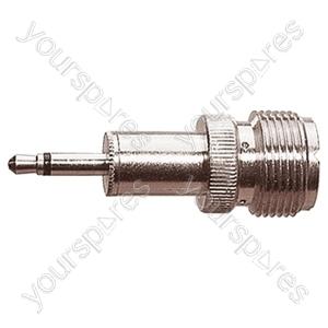 3.5 mm Mono Jack Plug to UHF Socket Radio Frequency Adaptor