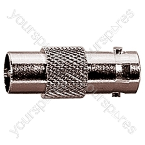 9.5 mm Coaxial Plug to BNC Line Socket Radio Frequency Adaptor