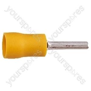 Spade Crimp Terminal - Colour Yellow