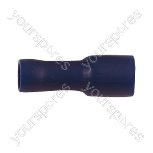 Push On Shrouded Receptacle Crimp Terminal - Colour Blue