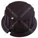 Black Pointer Rotary Knob with White Indicator - Knob Dia 15x14mm