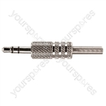 3.5 mm Stereo Metal Jack Plug with Solder Terminals